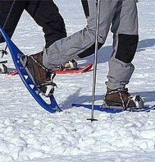 En la nieve, un paseo con raquetas