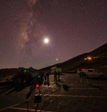 Atardecer y estrellas en el Teide