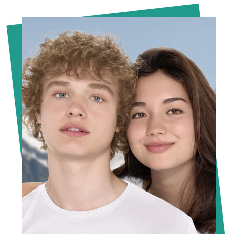 primer plano de una pareja de adolescentes